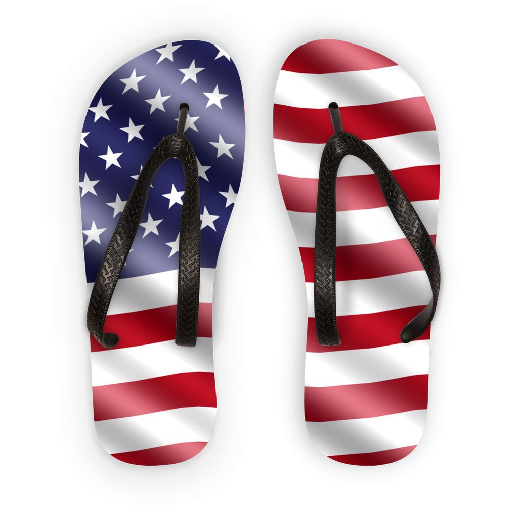 Waving United States Flag Flip Flops Accessories Flagdesignproducts.com