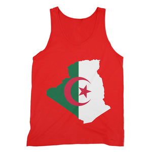 Algeria Continent Flag Fine Jersey Tank Top Apparel Flagdesignproducts.com