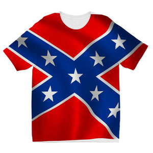 Confederate Flag Kids Sublimation T-Shirt Apparel Flagdesignproducts.com