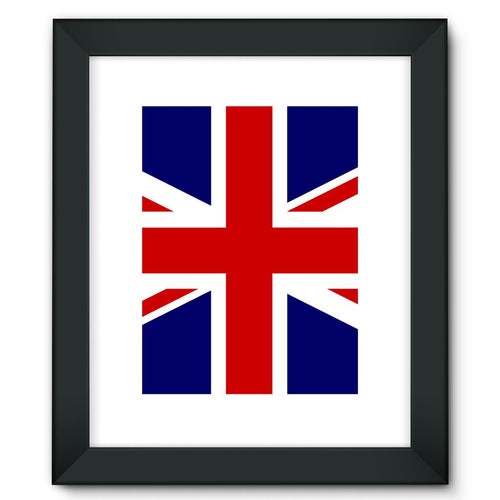Basic United Kingdom Flag Framed Fine Art Print Wall Decor Flagdesignproducts.com
