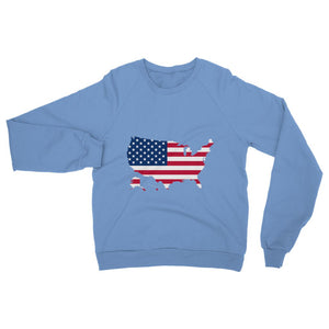 United States Continent Flag Heavy Blend Crew Neck Sweatshirt Apparel Flagdesignproducts.com
