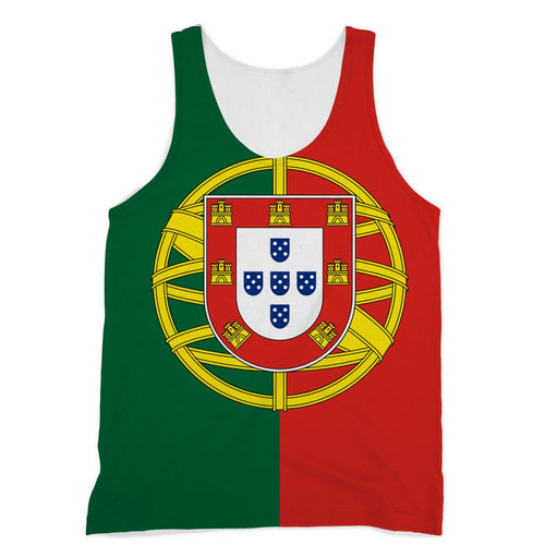 Basic Portugal Flag Sublimation Vest Apparel Flagdesignproducts.com