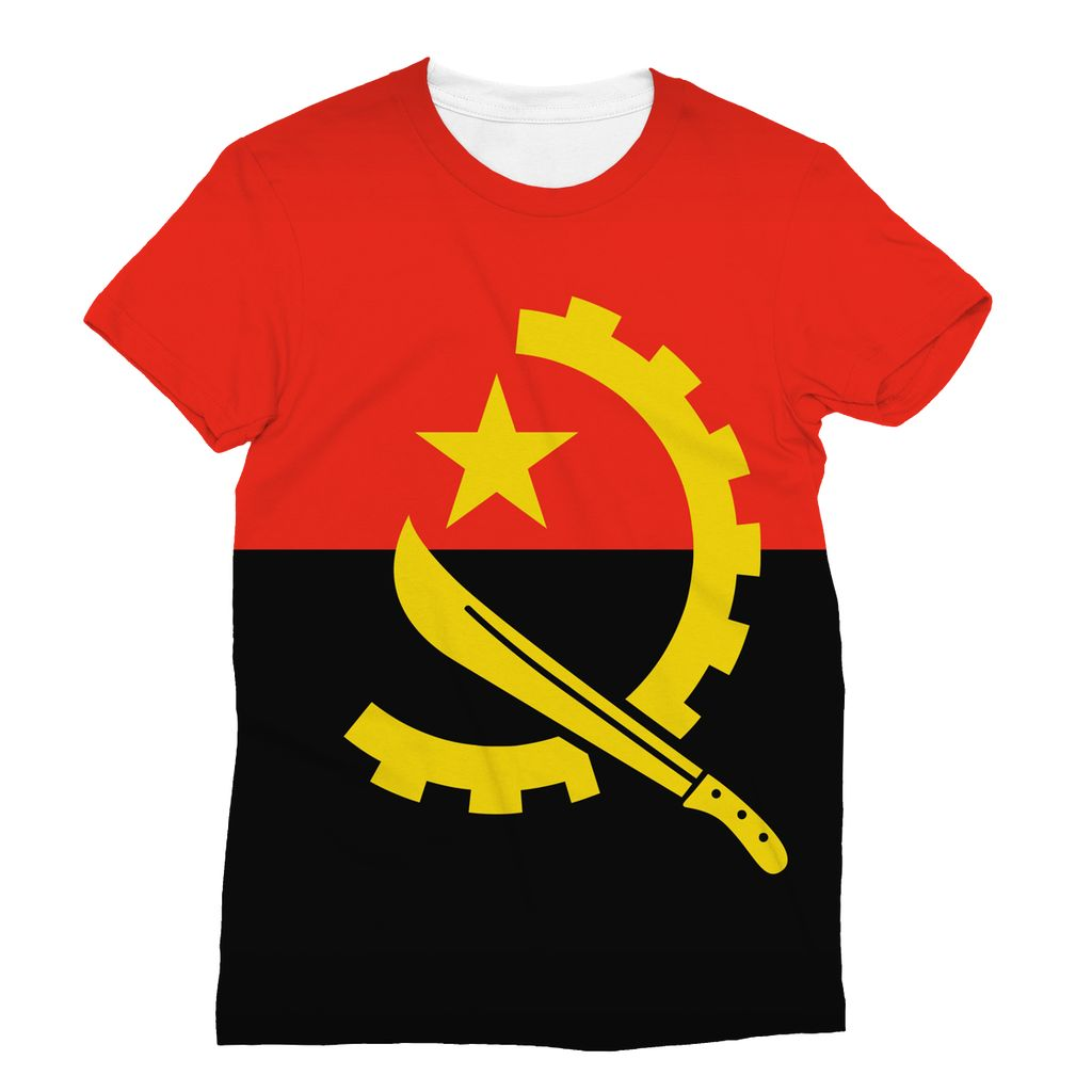 Angola Flag Sublimation T-Shirt Apparel Flagdesignproducts.com