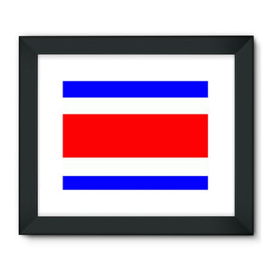 Flag Of Costa Rica Framed Fine Art Print Wall Decor Flagdesignproducts.com