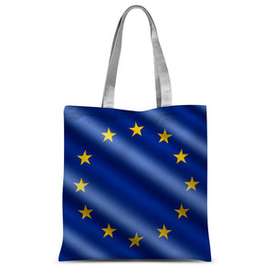 Waving Eu European Flag Sublimation Tote Bag Accessories Flagdesignproducts.com
