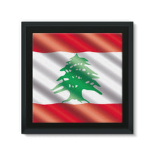 Waving Lebanon Flag Framed Eco-Canvas Wall Decor Flagdesignproducts.com