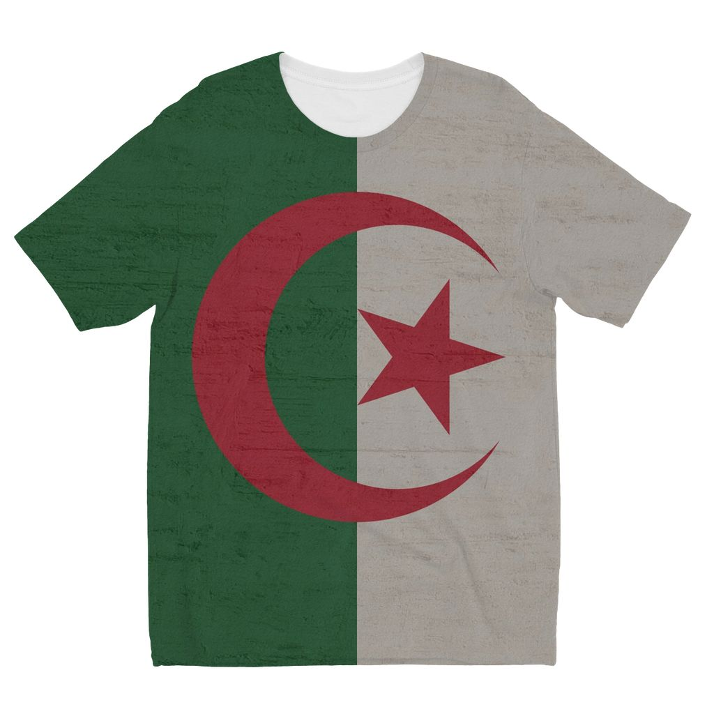 Algeria Stone Wall Flag Kids Sublimation T-Shirt Apparel Flagdesignproducts.com