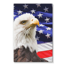 American Eagle And Usa Flag Stretched Eco-Canvas Wall Decor Flagdesignproducts.com