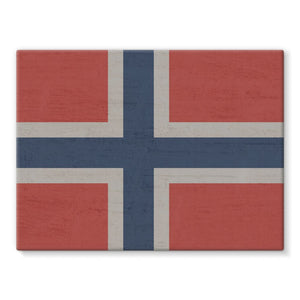 Norway Stone Wall Flag Stretched Canvas Decor Flagdesignproducts.com