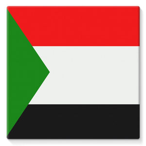 Flag Of Sudan Stretched Eco-Canvas Wall Decor Flagdesignproducts.com