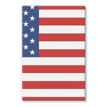 Basic America Flag Stretched Eco-Canvas Wall Decor Flagdesignproducts.com