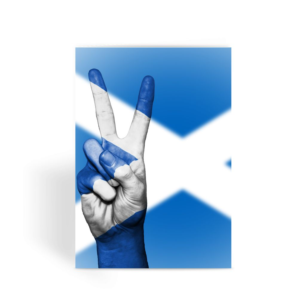 Scotland Flag Greeting Card Prints Flagdesignproducts.com