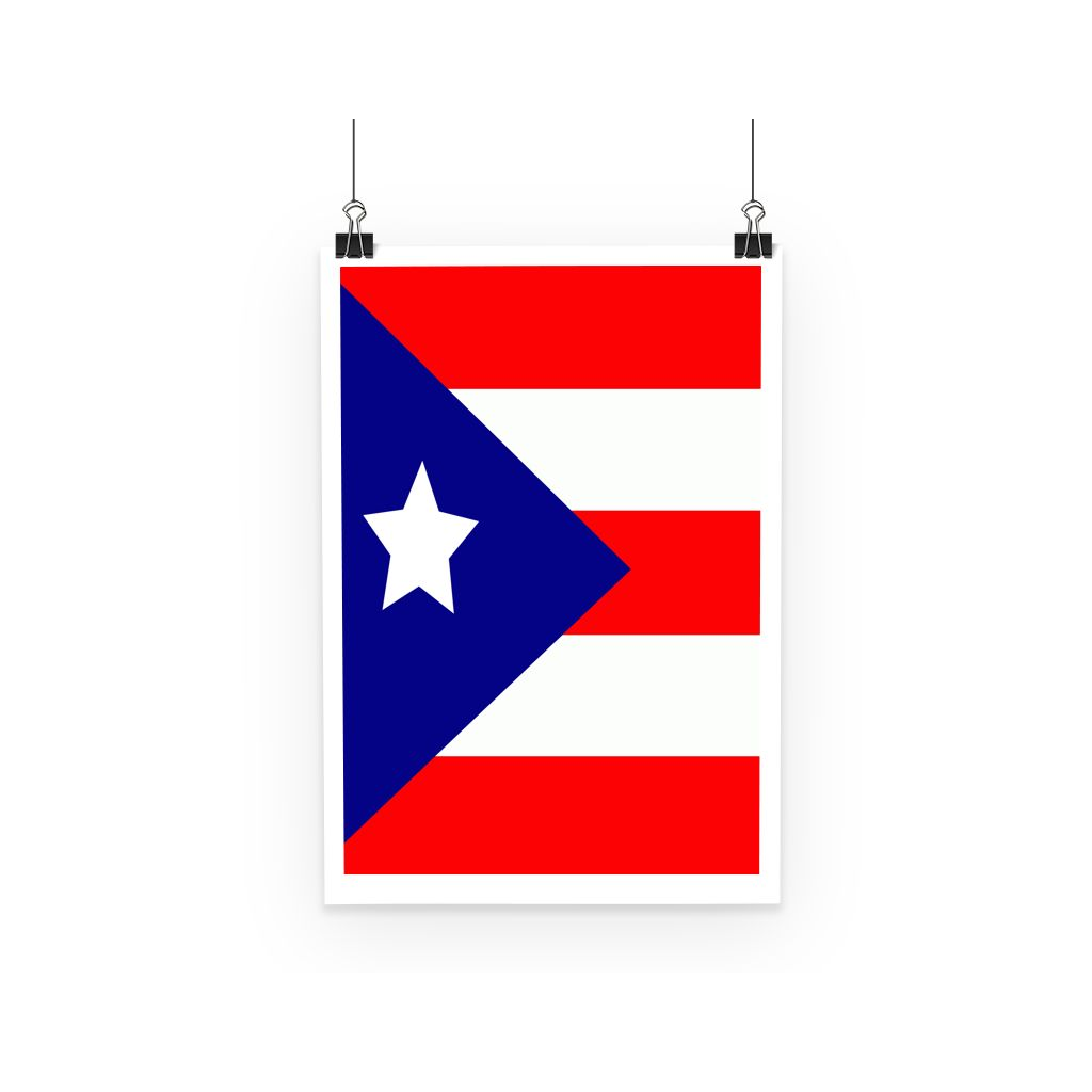 Flag Of Puerto Rico Poster Wall Decor Flagdesignproducts.com