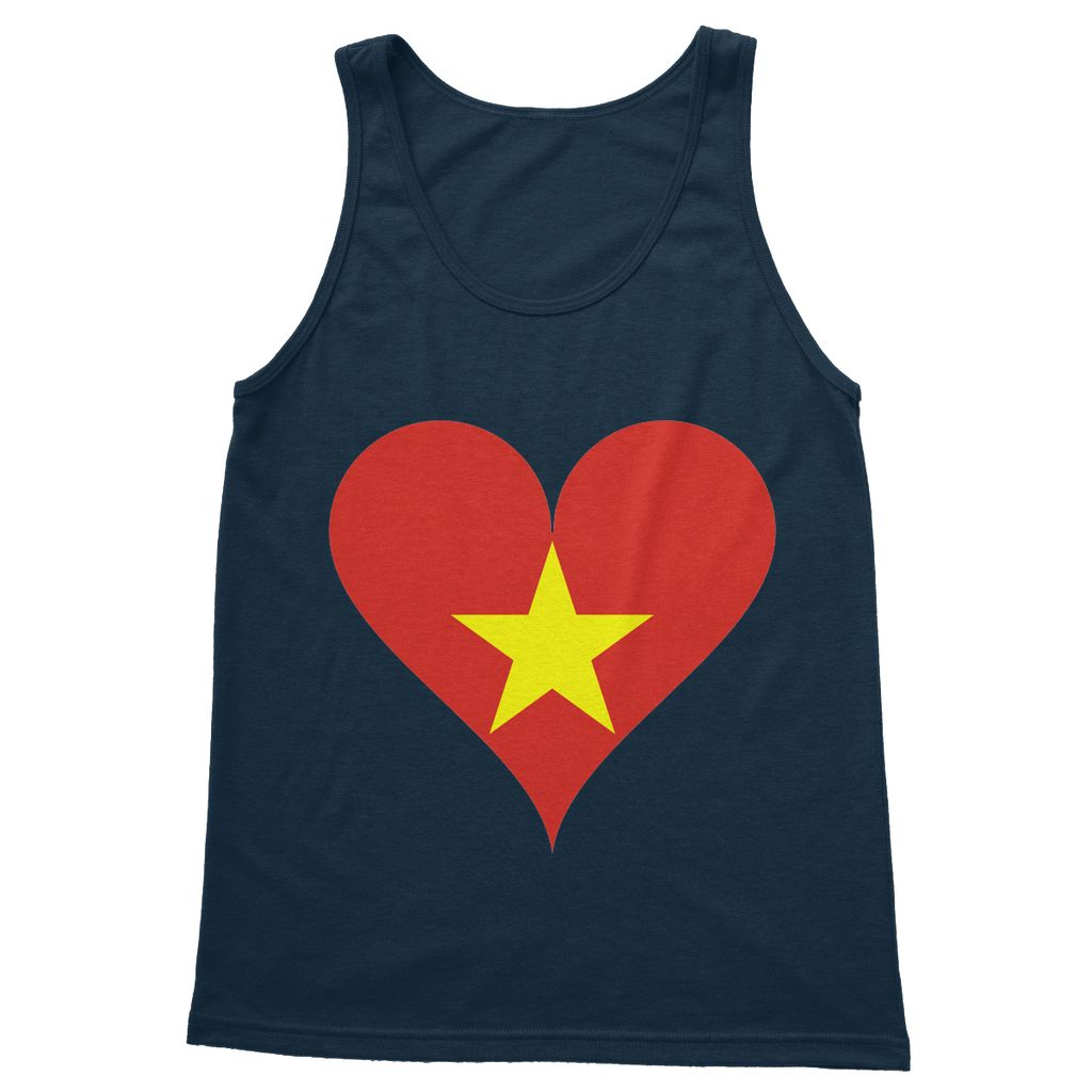 Vietnam Heart Flag Softstyle Tank Top Apparel Flagdesignproducts.com