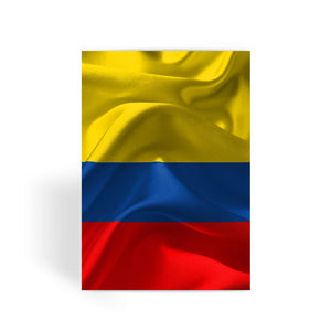 Waving Fabric Colombia Flag Greeting Card Prints Flagdesignproducts.com