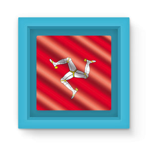 Waving Isle Of Man Flag Magnet Frame Homeware Flagdesignproducts.com