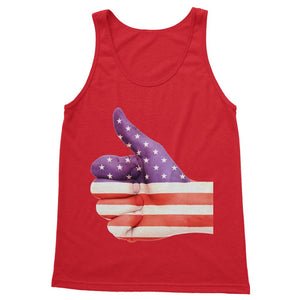 Usa Hand And Finger Flag Softstyle Tank Top Apparel Flagdesignproducts.com