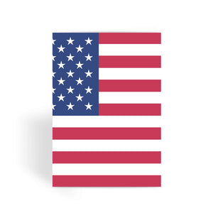 Basic Usa Flag Greeting Card Prints Flagdesignproducts.com
