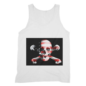 Usa Flag Pirate Fine Jersey Tank Top Apparel Flagdesignproducts.com