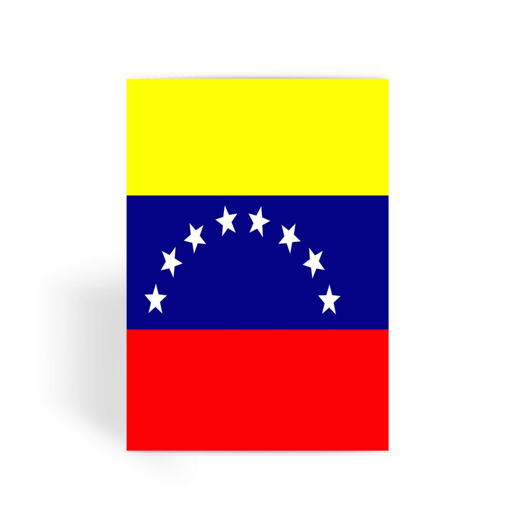 Flag Of Venezuela Greeting Card Prints Flagdesignproducts.com