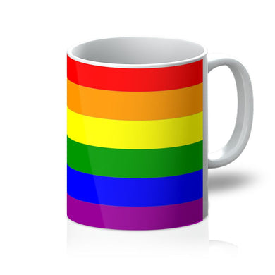 Colorful rainbow lgbt flag Mug - FlagDesignProducts