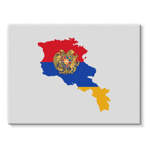 Armenia Continent Flag Stretched Eco-Canvas Wall Decor Flagdesignproducts.com