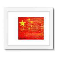 China Stone Brick Flag Framed Fine Art Print Wall Decor Flagdesignproducts.com