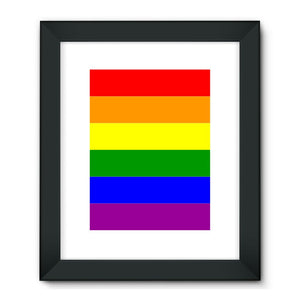 Colorful Rainbow Lgbt Flag Framed Fine Art Print Wall Decor Flagdesignproducts.com