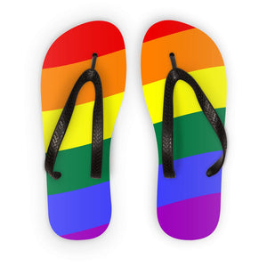 Waving Rainbow Flag Flip Flops Accessories Flagdesignproducts.com