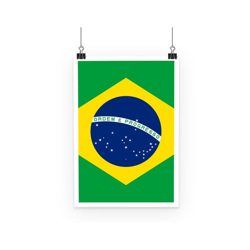 Basic Brazil Flag Poster Wall Decor Flagdesignproducts.com