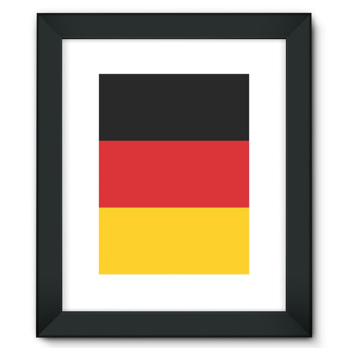 Basic Flag Of Germany Framed Fine Art Print Wall Decor Flagdesignproducts.com