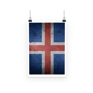 Grunge Iceland Flag Poster Wall Decor Flagdesignproducts.com