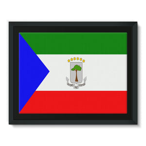Flagof Equatorial Guinea Framed Canvas Wall Decor Flagdesignproducts.com