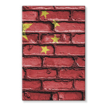 China Stone Brick Wall Flag Stretched Eco-Canvas Decor Flagdesignproducts.com