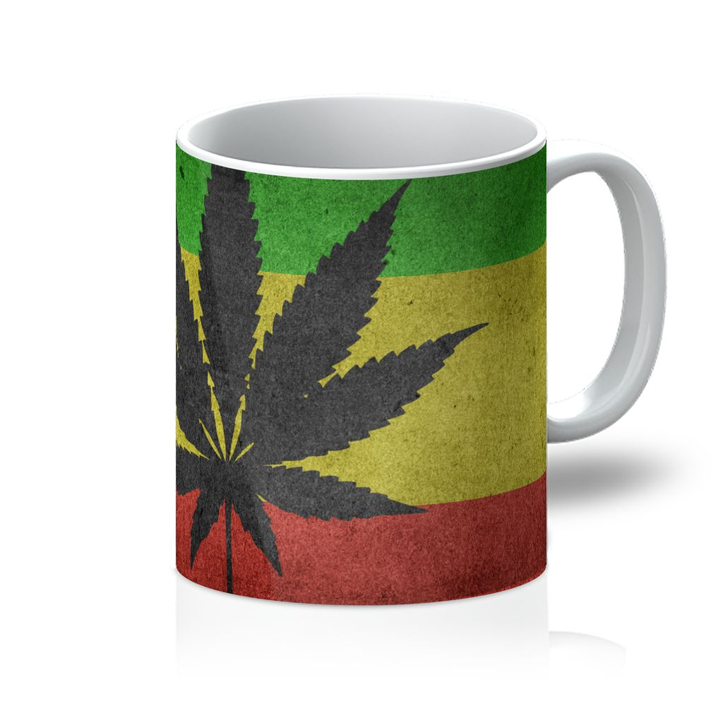 Green Yellow & Red Cannabis Mug Homeware Flagdesignproducts.com