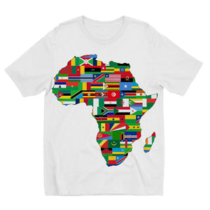 Africa Countries Flag Kids Sublimation T-Shirt Apparel Flagdesignproducts.com