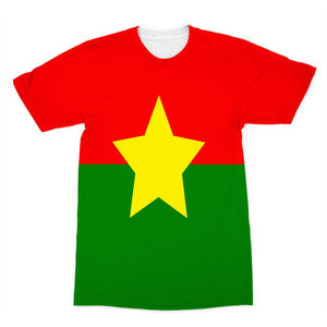 Flag Of Burkina Faso Sublimation T-Shirt Apparel Flagdesignproducts.com
