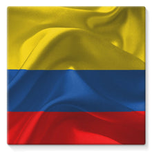 Waving Fabric Colombia Flag Stretched Eco-Canvas Wall Decor Flagdesignproducts.com