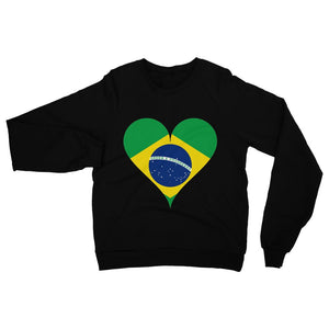 Brazil Heart Flag Heavy Blend Crew Neck Sweatshirt Apparel Flagdesignproducts.com