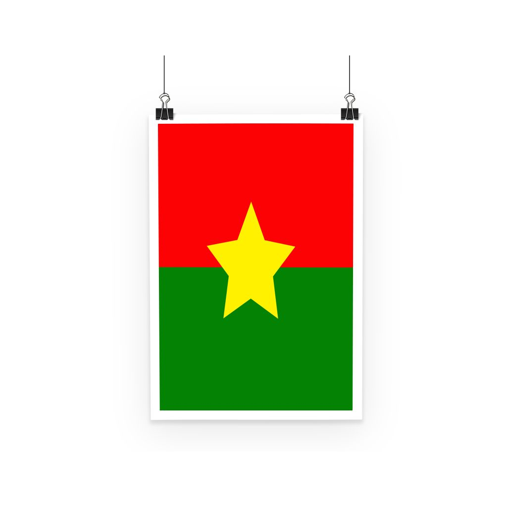 Flag Of Burkina Faso Poster Wall Decor Flagdesignproducts.com