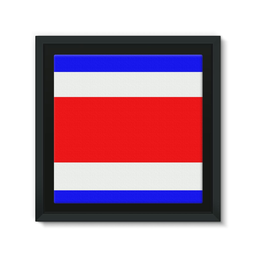 Flag Of Costa Rica Framed Eco-Canvas Wall Decor Flagdesignproducts.com