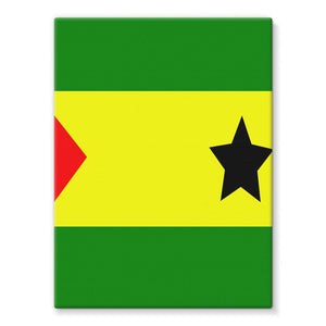 Flag Of São Tomé &principe Stretched Canvas Wall Decor Flagdesignproducts.com
