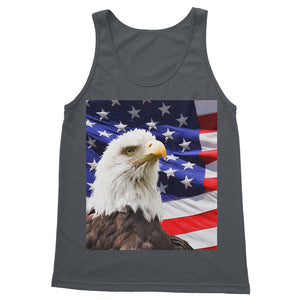 American Eagle And Usa Flag Softstyle Tank Top Apparel Flagdesignproducts.com