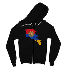 Armenia Continent Flag Fine Jersey Zip Hoodie Apparel Flagdesignproducts.com