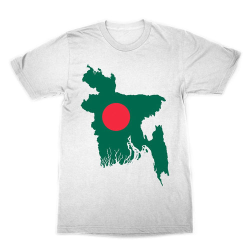 Bangladesh Continent Flag Sublimation T-Shirt Apparel Flagdesignproducts.com