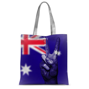 Australia Flag And Hand Sublimation Tote Bag Accessories Flagdesignproducts.com