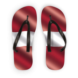 Waving Latvia Flag Flip Flops Accessories Flagdesignproducts.com