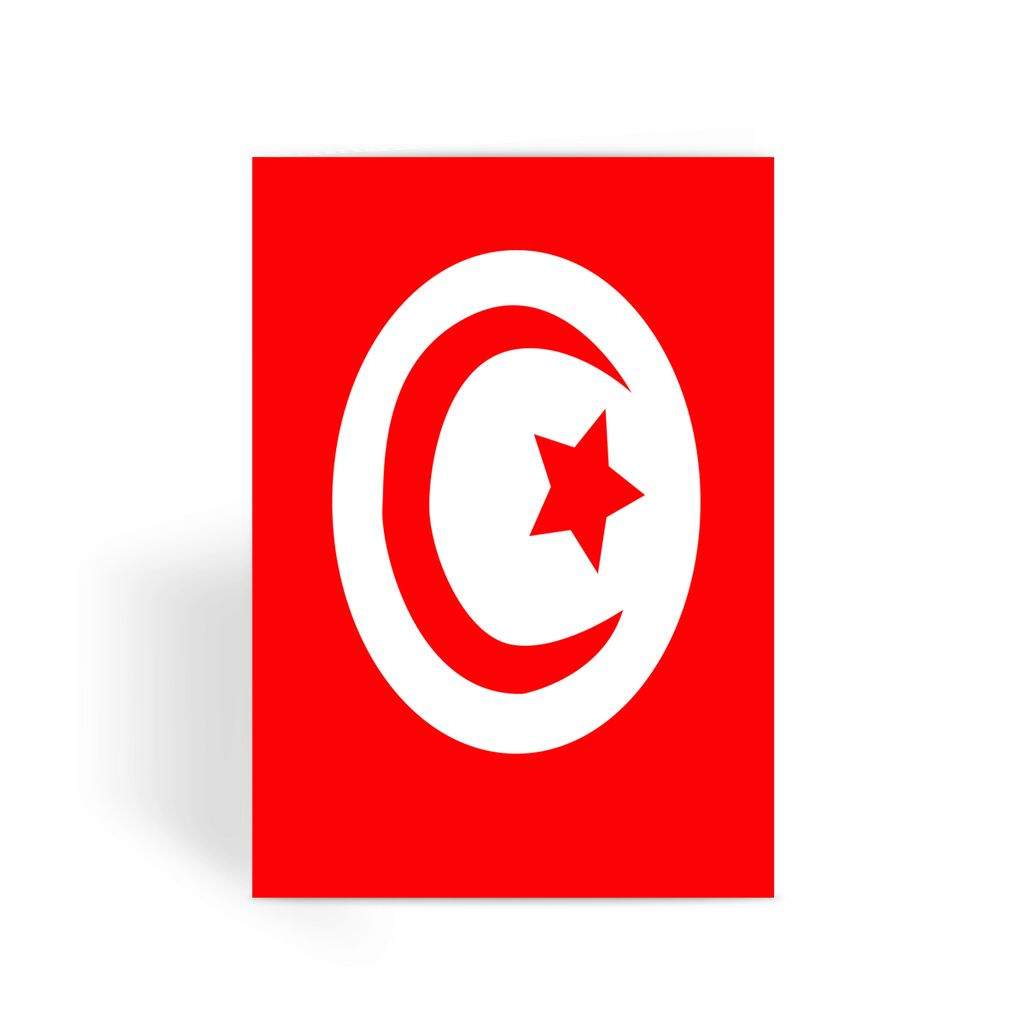 Flag Of Tunisia Greeting Card Prints Flagdesignproducts.com