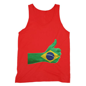 Brazil Hand Flag Fine Jersey Tank Top Apparel Flagdesignproducts.com