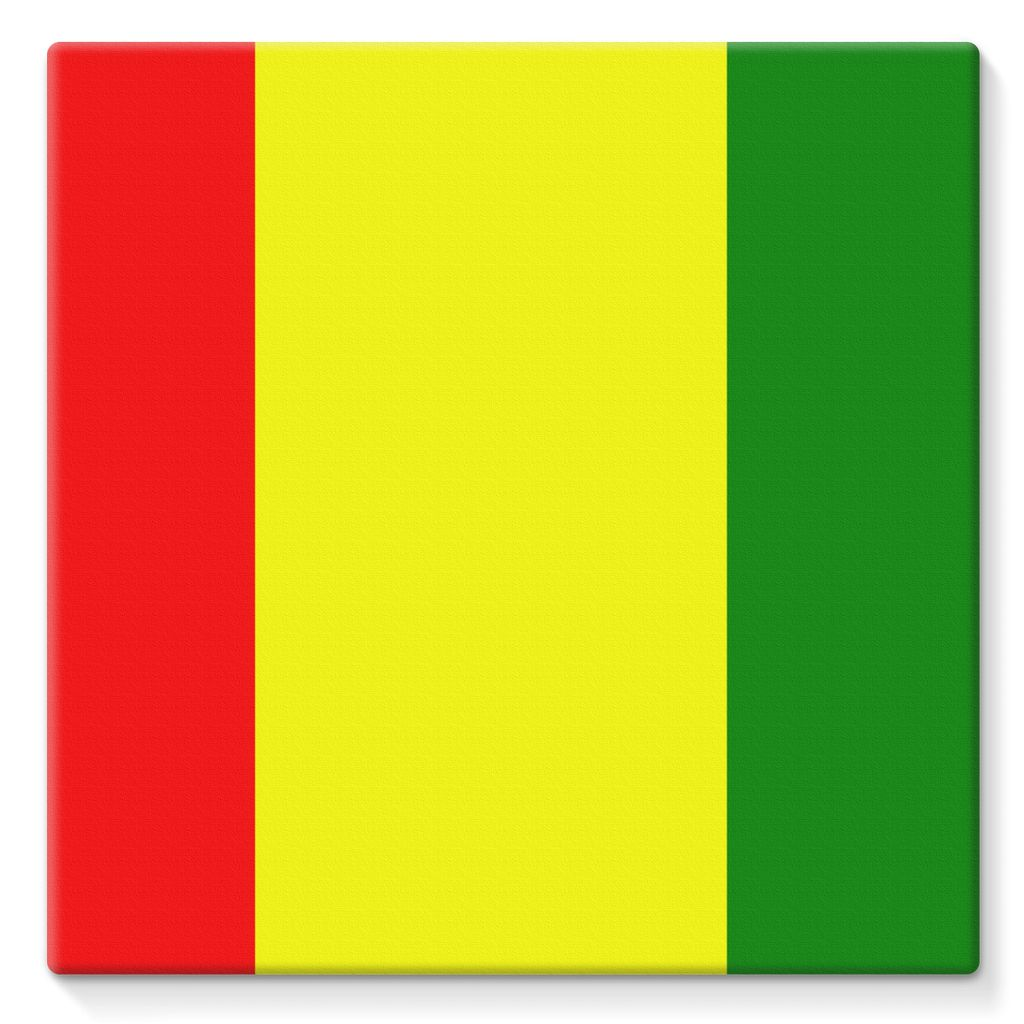Flag Of Guinea Stretched Eco-Canvas Wall Decor Flagdesignproducts.com